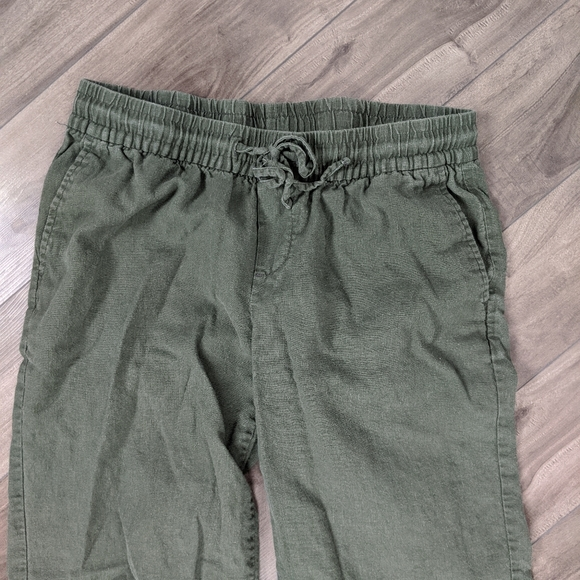 5/$25 Old Navy Small olive Green Linen Pants